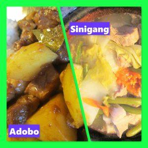 Filipino cuisine: Adobo & Sinigang