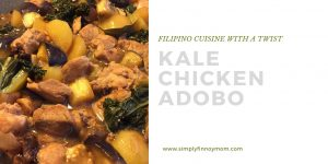 Kale Chicken Adobo or Kale Adobong Manok Recipe